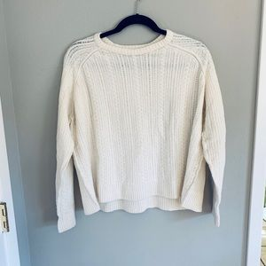 ATM ivory cropped cable knit sweater